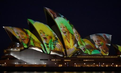 Sydney Opera House was lit up in celebration of Australia and New Zealand's joint bid