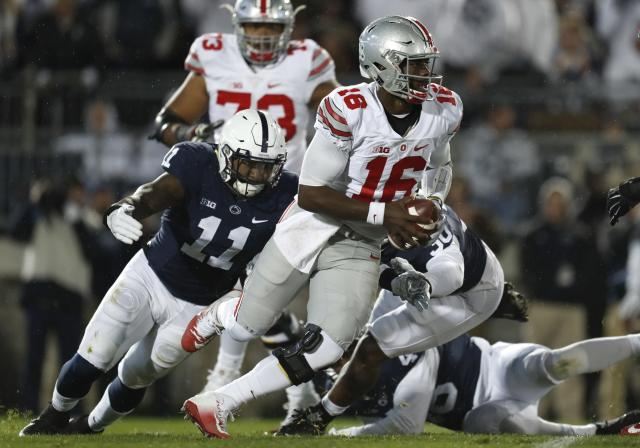 J.T. Barrett threw for 245 yards and on 28-of-43 passing in Ohio State's loss to Penn State in 2016. (Getty)