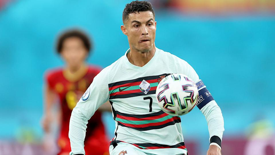 Seen here, Cristiano Ronaldo in action for Portugal at the European Championships in 2021.