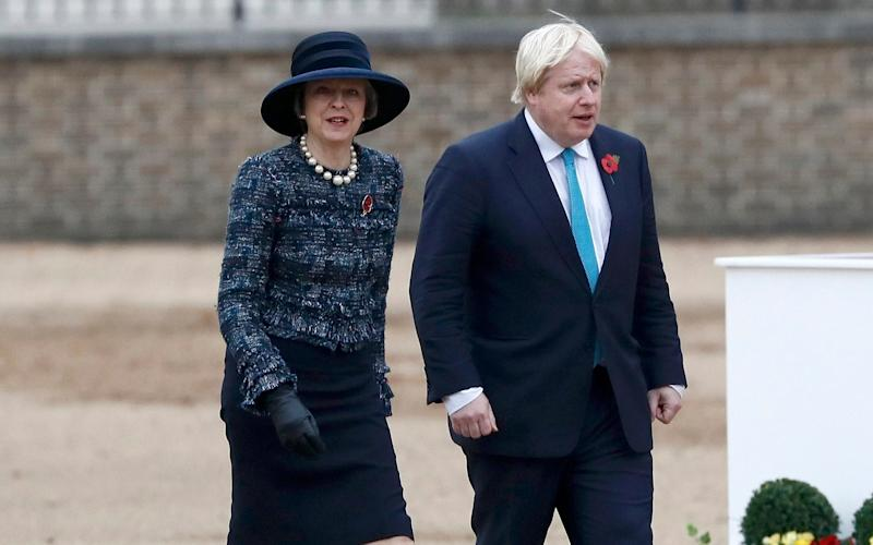 Theresa May and Foreign Secretary Boris Johnson - 2016 Getty Images