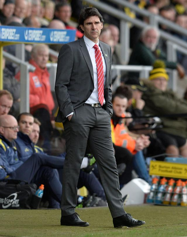 "Soccer Football - Championship - Burton Albion vs Nottingham Forest - Pirelli Stadium, Burton-on-Trent, Britain - February 17, 2018 Nottingham Forest manager Aitor Karanka Action Images/Alan Walter EDITORIAL USE ONLY. No use with unauthorized audio, video, data, fixture lists, club/league logos or ""live"" services. Online in-match use limited to 75 images, no video emulation. No use in betting, games or single club/league/player publications. Please contact your account representative for further details."
