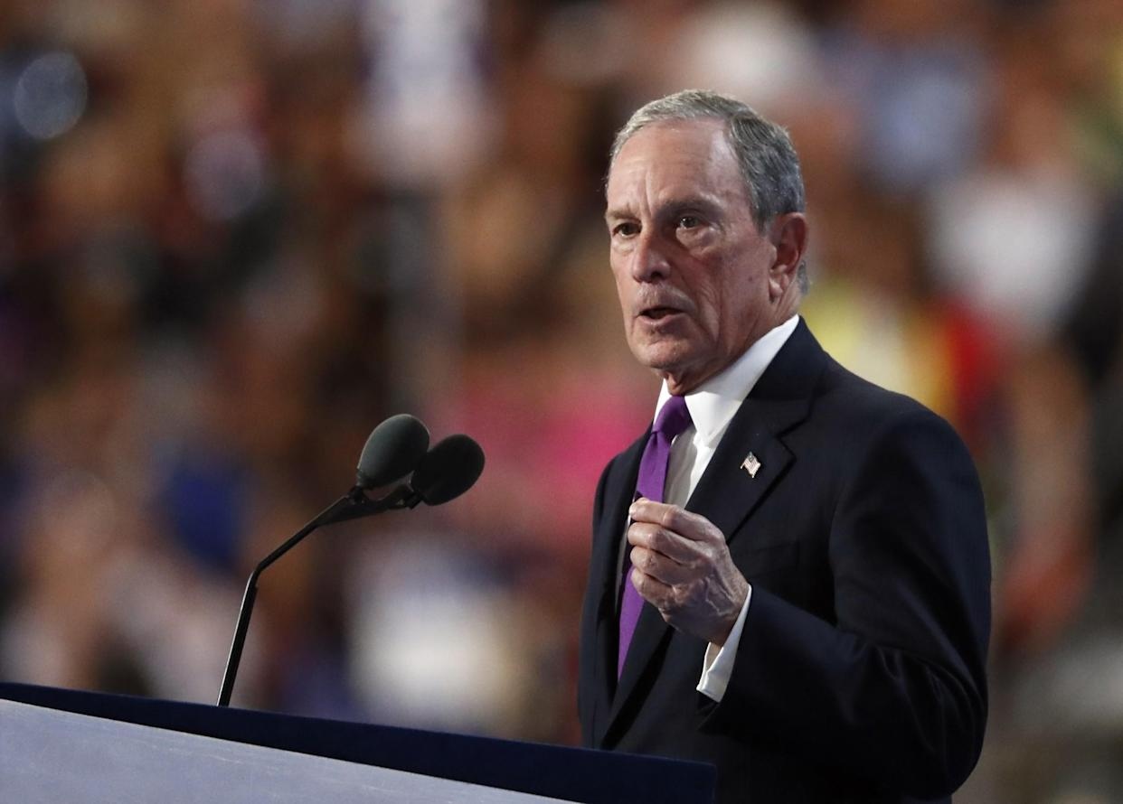 Former New York Mayor Michael Bloomberg speaks during the third day of the Democratic National Convention in Philadelphia on July 27, 2016. (Photo: Paul Sancya/AP)