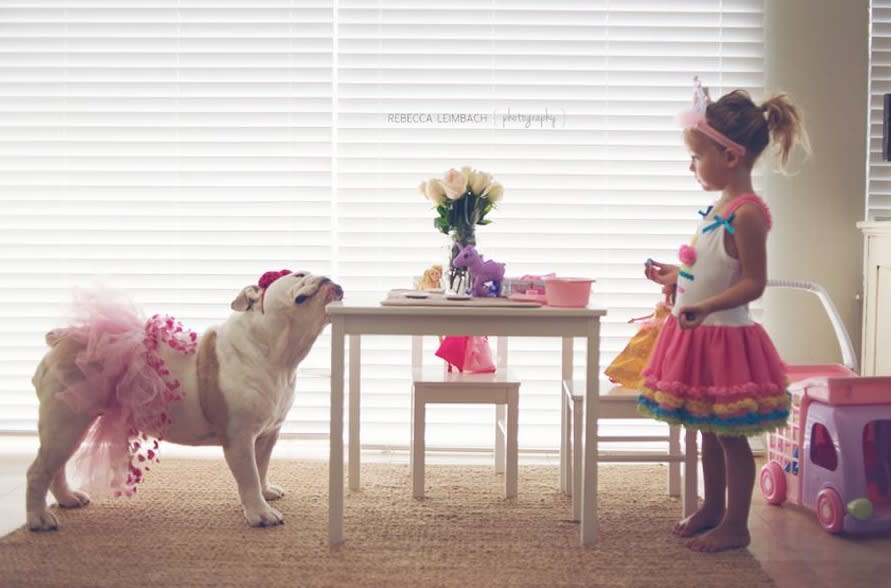 "<div class=""caption-credit"">Photo by: Rebecca Leimbach</div>Harper and Lola have a princess tea party. <br>"