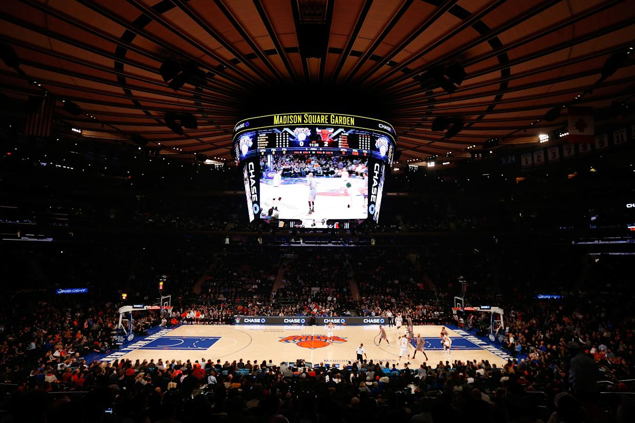 NEW YORK, NY - DECEMBER 19:  A general view of the game between the New York Knicks and the Chicago Bulls at Madison Square Garden on December 19, 2015 in New York City.  NOTE TO USER: User expressly acknowledges and agrees that, by downloading and or using this photograph, User is consenting to the terms and conditions of the Getty Images License Agreement.  (Photo by Mike Stobe/Getty Images)