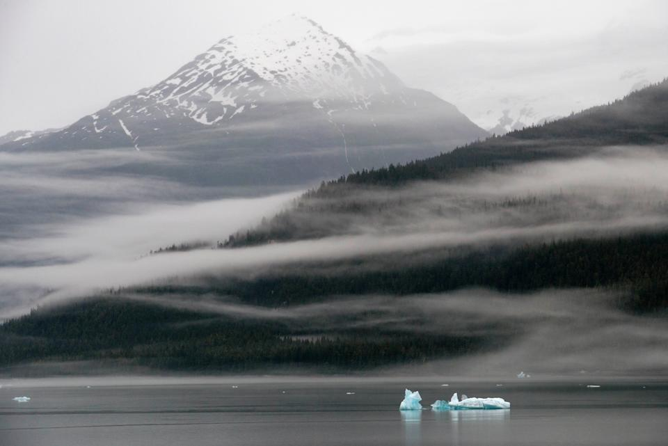 Icebergs near the Dawes Glacier in Tongass National Forest, Alaska. (Photo: VW Pics via Getty Images)