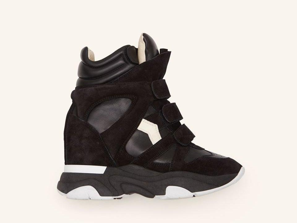 Isabel Marant's new Balskee wedge trainer, which updates the designer's iconic original, the Beckett (Isabel Marant)