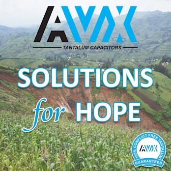 AVX Announces Solutions for Hope Pilot to Test 3Ts Due Diligence Options for Procuring Responsibly-Sourced Tantalum from Rwanda