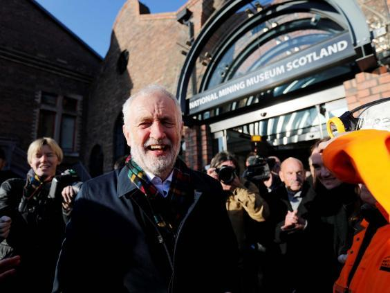 Jeremy Corbyn on the campaign trail (Reuters)