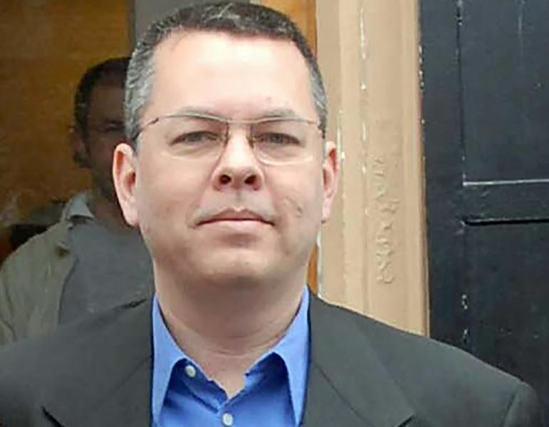 Turkey's detention of American pastor Andrew Brunson is at the center of one of the worst spats between Washington and Ankara in decades (AFP Photo/STR)