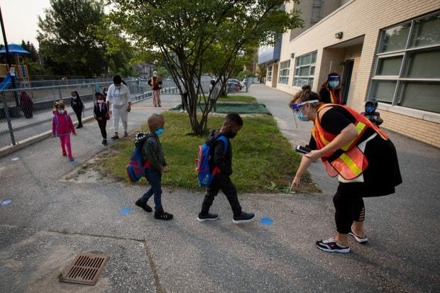 Students at Toronto's Portage Trail Community School returned to class on Sept. 15, 2020. This fall, Dr. Barry Pakes says the province will be in a much better place to control the spread of COVID-19 thanks to vaccines. (Evan Mitsui/CBC - image credit)