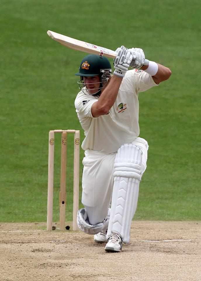 LEEDS, ENGLAND - JULY 22: Shane Watson of Australia hits out during day two of the 2nd Test between Pakistan and Australia at Headingley Carnegie Stadium on July 22, 2010 in Leeds, England.  (Photo by Julian Herbert/Getty Images)