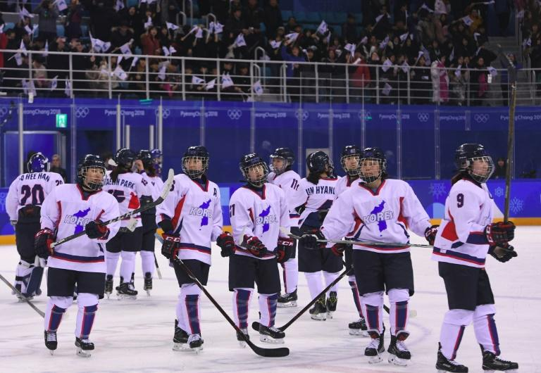 The decision to create a Unified Korea hockey team (pictured February 2018) for the Winter Olympics was controversial, but ultimately the romance of the occasion melted hearts, despite the team failing to win a single game
