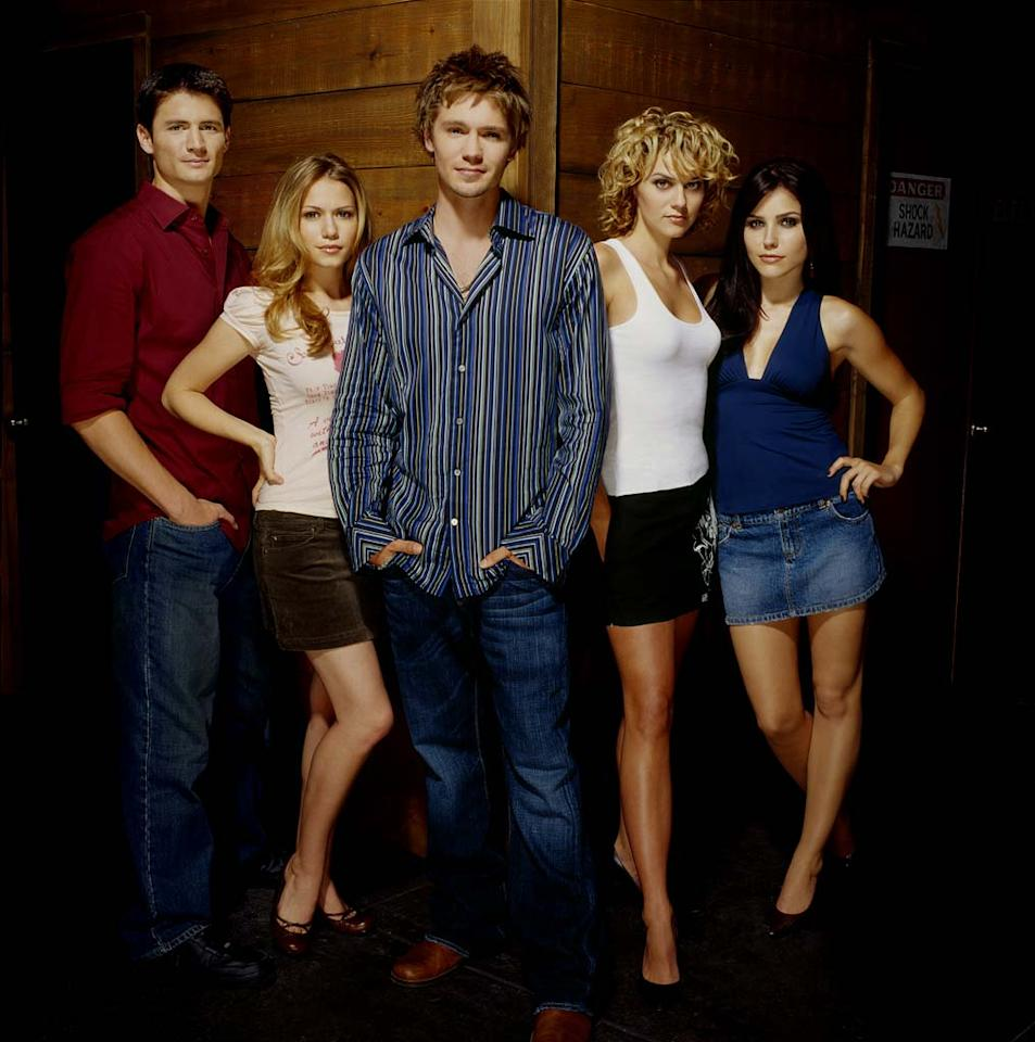 """<a href=""""/one-tree-hill/show/35279"""">One Tree Hill</a>, airing on The CW."""