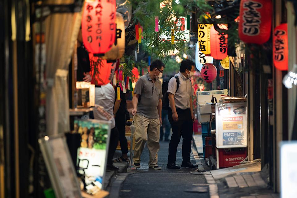 Tokyo's fourth state of emergency started on Monday, which includes a ban on serving alcohol (AP)