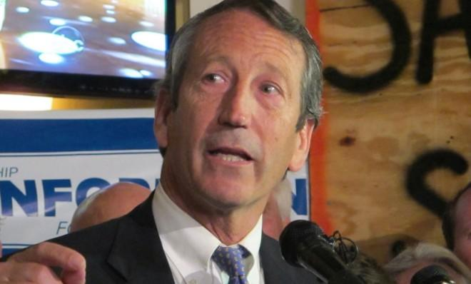 Former Gov. Mark Sanford (R-S.C.) makes a campaign stop in Charleston on March 19.