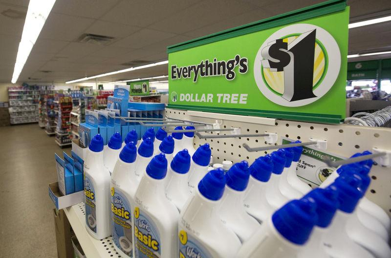 FILE PHOTO Advertising Sign Is Pictured At A Dollar Tree Store In Pasadena