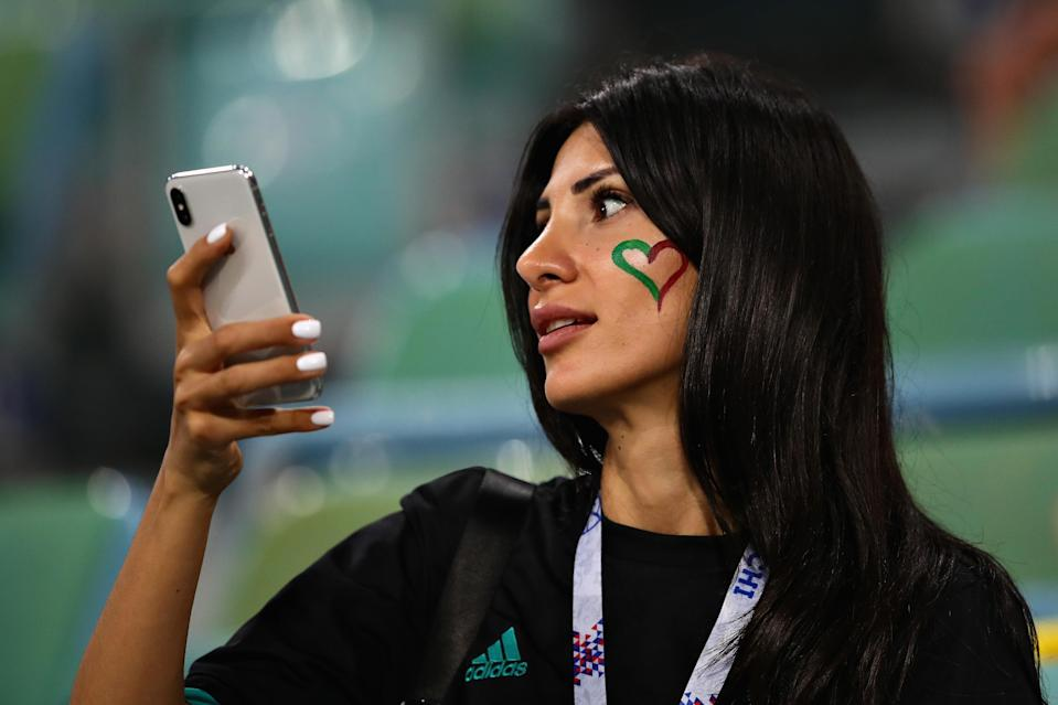 <p>A fan enjoys the atmosphere before the 2018 FIFA World Cup Russia group B match between Portugal and Spain at Fisht Stadium on June 15, 2018 in Sochi, Russia. (Photo by Chris Brunskill/Fantasista/Getty Images) </p>