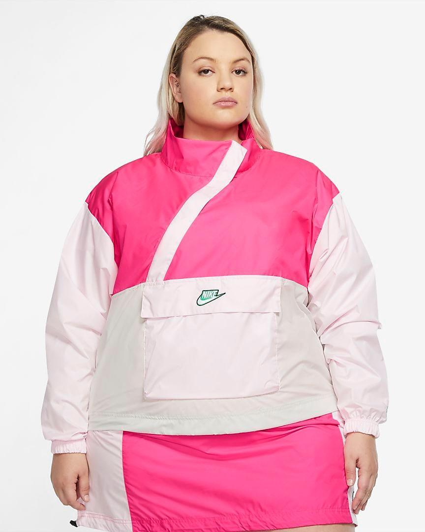 "Quarantine got you down? Grab this hot pink windbreaker from Nike's Icon Clash collection for an instant pick-me-up. $100, Nike. <a href=""https://www.nike.com/t/sportswear-icon-clash-womens-woven-anorak-3mMZVJ/CZ3382-639"" rel=""nofollow noopener"" target=""_blank"" data-ylk=""slk:Get it now!"" class=""link rapid-noclick-resp"">Get it now!</a>"