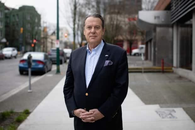 John Coupar, park board commissioner and the NPA's mayoral candidate for the 2022 municipal election, is pictured in Vancouver's Downtown Eastside on Dec. 13, 2019. (Maggie MacPherson/CBC - image credit)