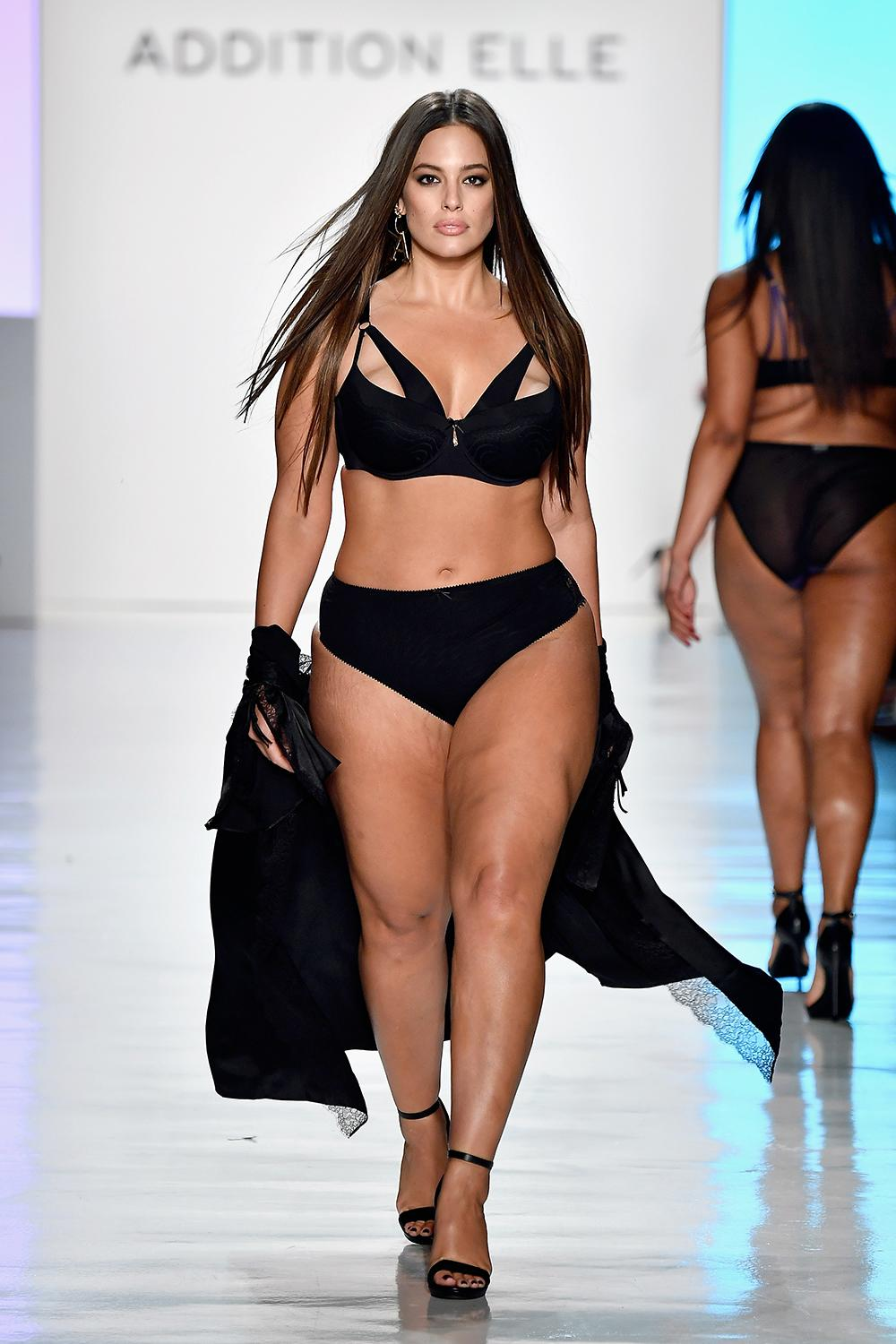 Ashley Graham walks the Addition Elle runway.