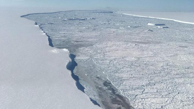 West Antarctica's ice sheet has shed about 150 billion tonnes of mass every year since 2005.