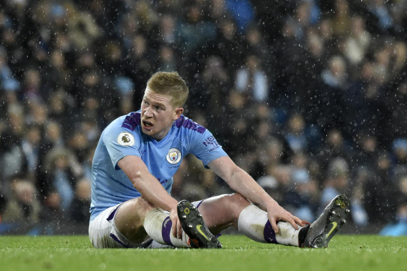 De Bruyne shines, Man City rallies in 3-1 win over Leicester
