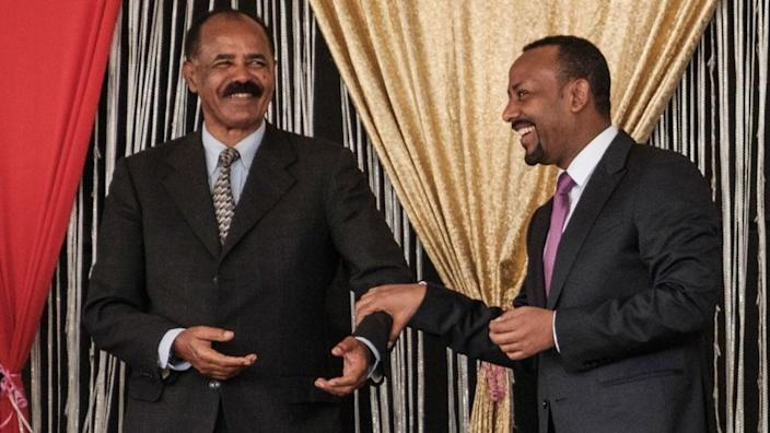 Eritrean leader Isaias Afwerki (Isaias Afwerki) and Ethiopian Prime Minister Abiy Ahmed (Abiy Ahmed)