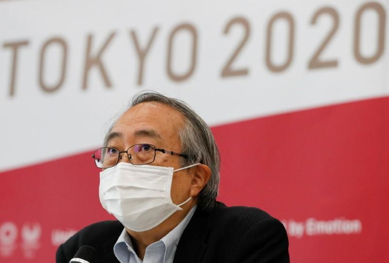 Nobuhiko Okabe, one of the infectious disease specialists advising Tokyo 2020 Olympics Organising Committee, attends a news conference in Tokyo
