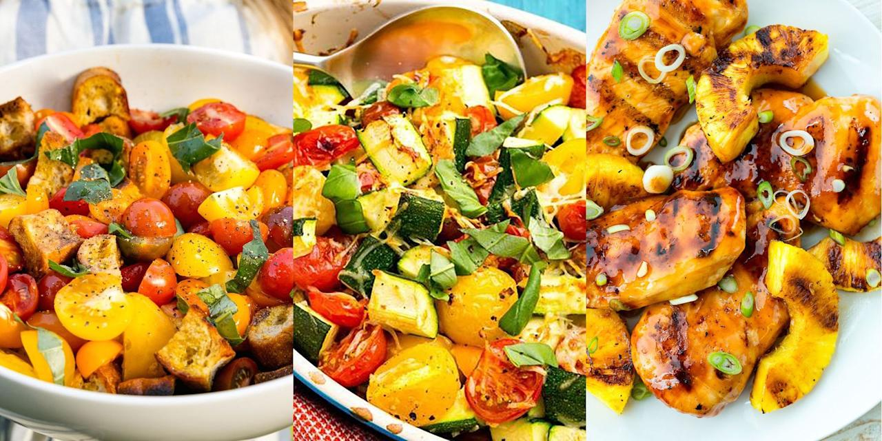 """<p>The weather's hotting up (mostly) which means summer is well and truly underway. And with summer comes a selection of delightful summer food. From tangy <a href=""""https://www.delish.com/uk/cooking/recipes/a28826377/grilled-aloha-chicken-recipe/"""" target=""""_blank"""">Aloha Grilled Chicken</a> (seriously delicious) to fresh <a href=""""https://www.delish.com/uk/cooking/recipes/a31220259/blueberry-salsa-recipe/"""" target=""""_blank"""">Blueberry Salad</a>, we have SO many summer recipes for you to choose from. Not to mention, our <a href=""""http://www.delish.com/uk/cooking/recipes/g32997531/summer-salads/"""" target=""""_blank"""">Summer Salads</a> game is STRONG. </p><p><br>(Don't forget to check out our <a href=""""https://www.delish.com/uk/cooking/recipes/g32956232/summer-fruit-recipes/"""" target=""""_blank"""">Summer Fruit</a> recipes, too). </p>"""