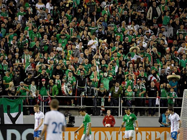 Mexico fans during their side's 2018 World Cup qualifier with Iceland: Getty
