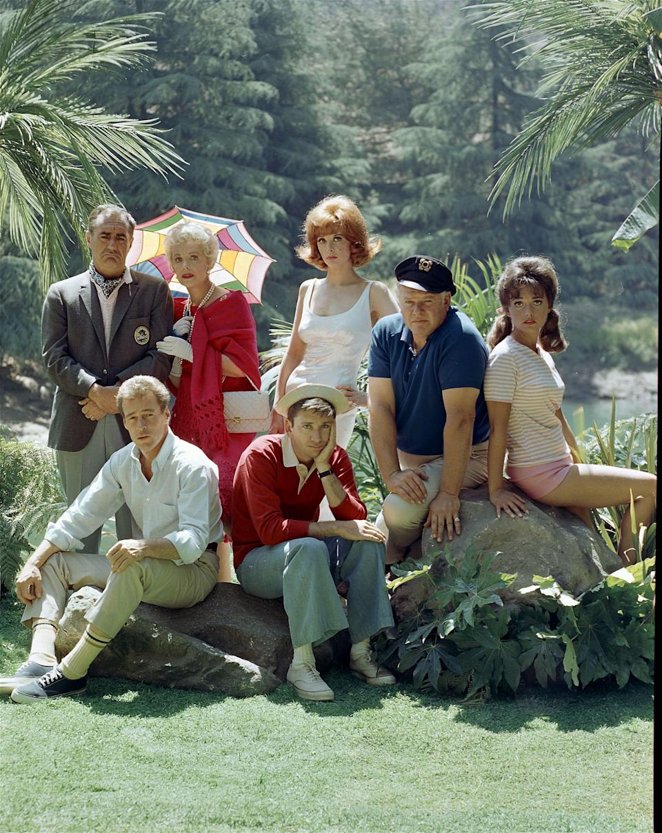 Wells, right, played one of the seven castaways on <em>Gilligan's Island</em>. The other characters were a millionaire and his wife, a movie star, a professor, and the crew. (Photo: CBS Photo Archive/Getty Images)