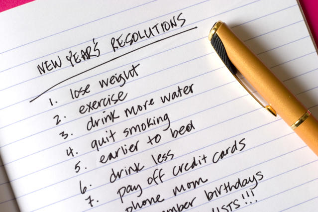 A list of New Year's resolutions that are destined to fail without the right approach. (Getty)