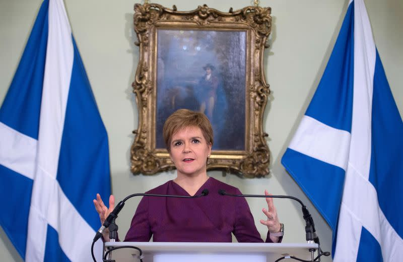 Scottish leader Sturgeon demands a post-Brexit independence referendum