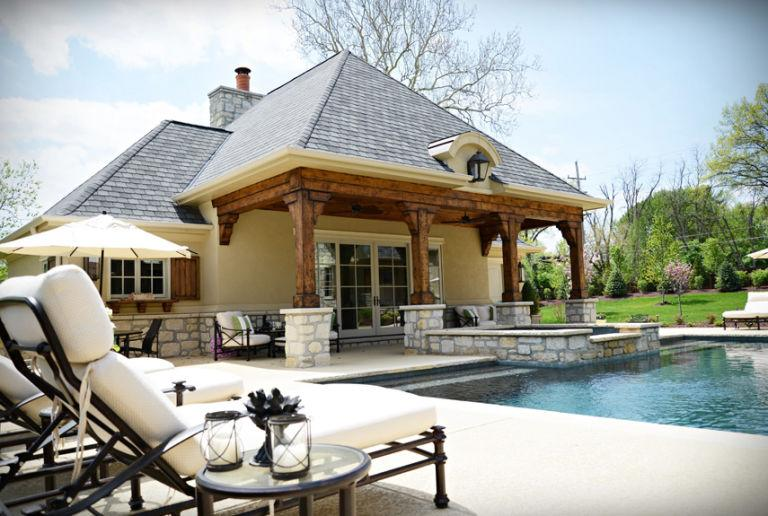 16 stunning backyard pool design ideas for Pool veranda designs