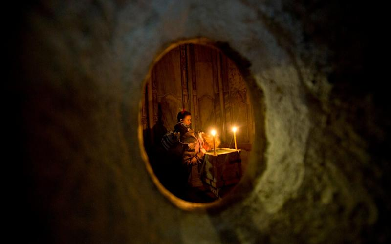 Edicule - Credit: AP Photo/Sebastian Scheiner