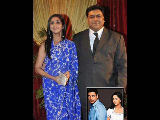 <b>Gautami Gadgil-Ram Kapoor</b> <br>One the most romantic and ideal couples of small-screen Ram and Gautami met while working on the TV show Ghar-Ek Mandir. They got married after years of togetherness on the Valentine's Day of 2003. The couple still looks very much in love every time they make an appearance together.