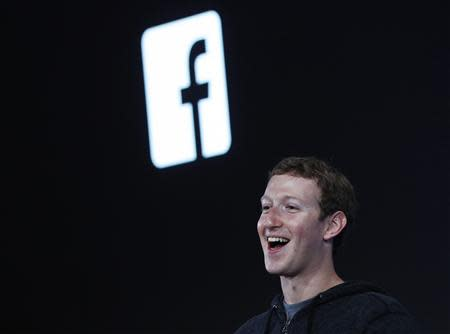 File photo of Mark Zuckerberg during a Facebook press event to introduce 'Home' a Facebook app suite that integrates with Android in Menlo Park