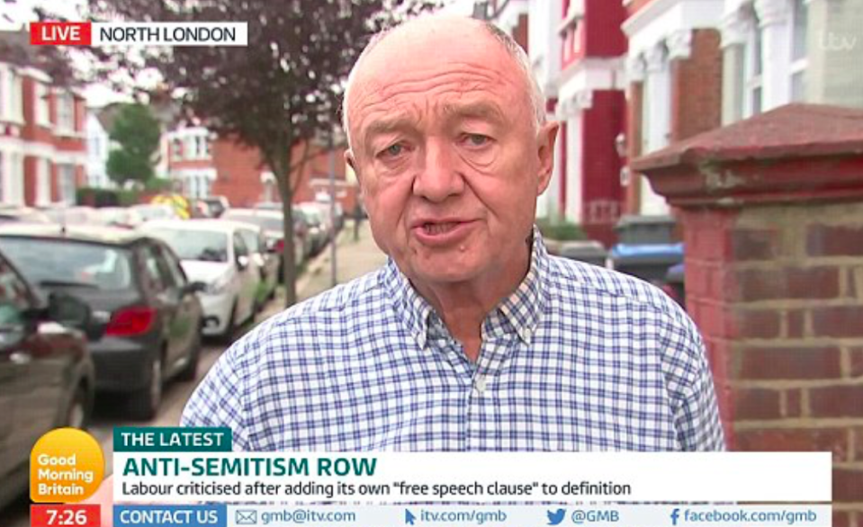 <em>The former London mayor said Labour's anti-Semitism crisis was a 'conspiracy' against Jeremy Corbyn (Good Morning Britain)</em>