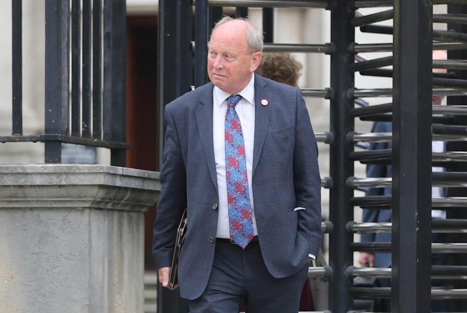 TUV leader Jim Allister accused the minister of 'folly' because his department continues to carry out NI Protocol checks (Niall Carson/PA) (PA Wire)