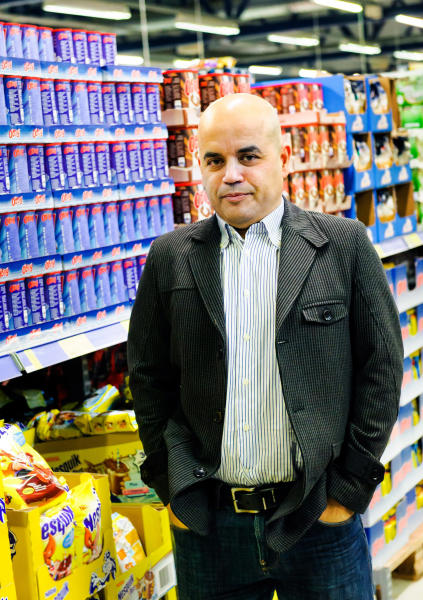 FILE - This Nov. 19, 2013 file photo shows the founder and CEO of Laplandia Market, Mohamad Darwich, in Lappeenranta, Finland, The rare closure of Finland's border with Russia amid the COVID-19 pandemic has hit hard the Nordic nation's South Karelia border region, putting an abrupt stop to visits by nearly two million Russian tourists to the area annually and depriving local businesses and entrepreneurs millions of euros every month. (Hannu Rissanen/Lehtikuva via AP, File)
