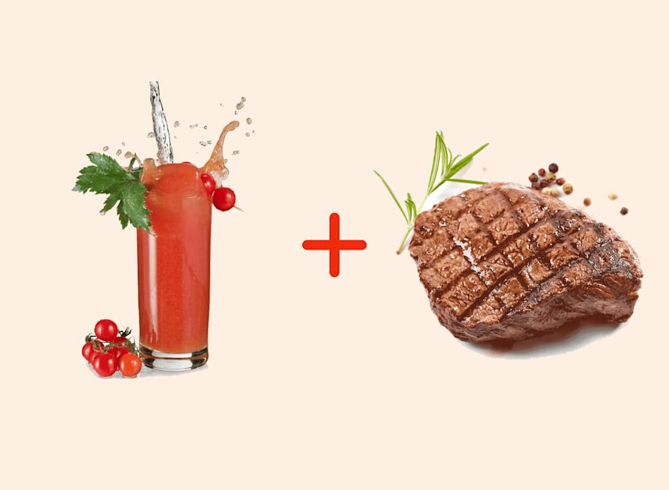 bloody mary with steak amazing food pairings
