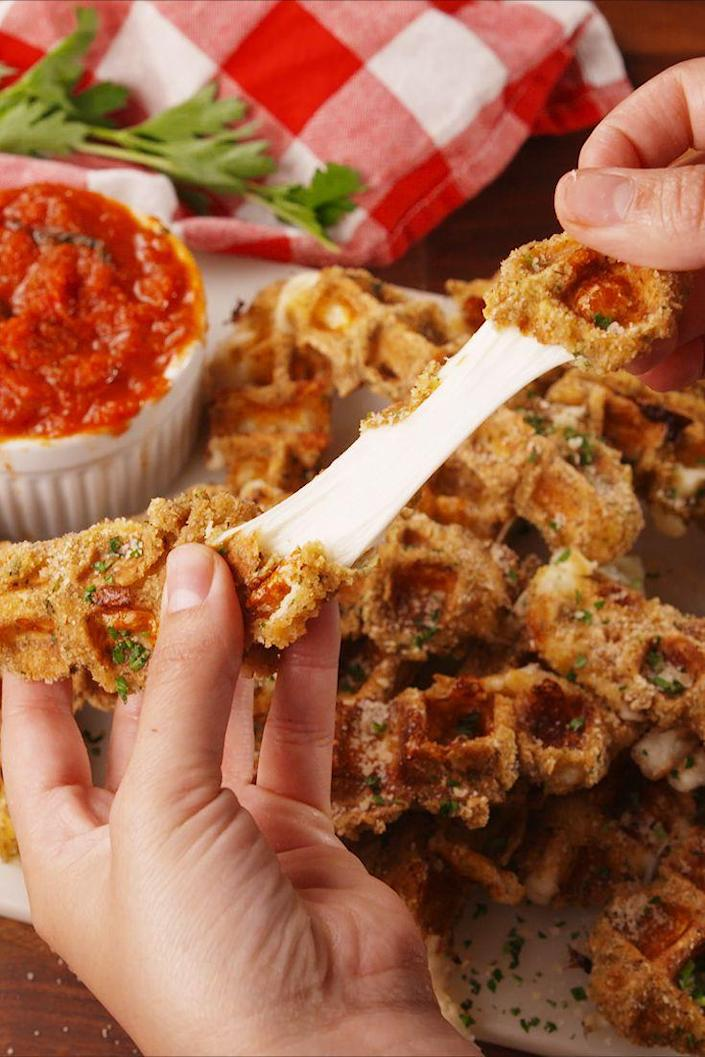 <p>Imagine mozzarella sticks but with crispy waffled nooks and crannies.</p><p>Get the recipe from <span>Delish</span>.</p>