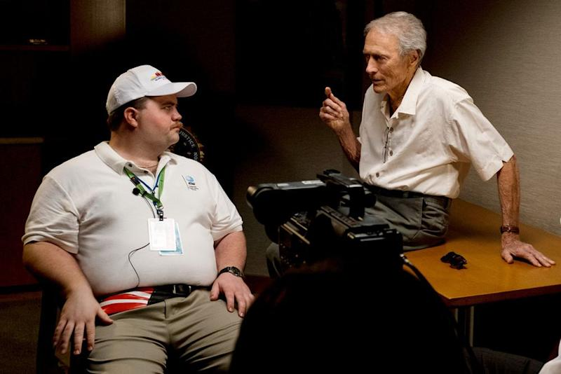 Paul Walter Hauser and Clint Eastwood on the set ofRichard Jewell | Claire Folger