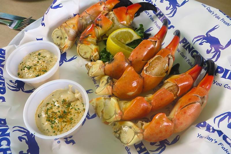 Stone crab claws from Pinchers | courtesy of Naples, Marco Island, Everglades CVB