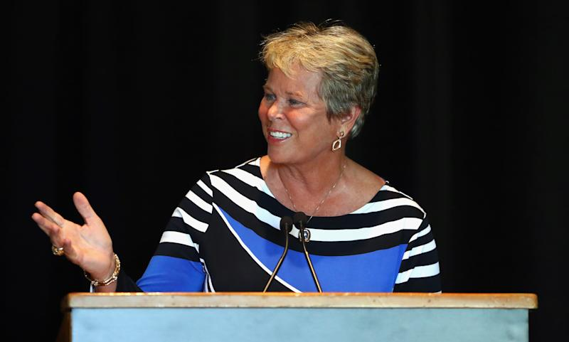 Ann Meyers Drysdale currently serves as the vice president and a broadcaster for both the Phoenix Suns and Mercury. (Getty Images)