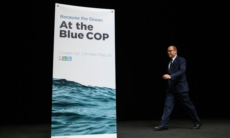 """Prince Albert II of Monaco attends a """"Platform of Science-based Ocean Solutions"""" conference on the second day of the COP 25 climate summit on Dec. 2 in Madrid, Spain. (Photo: Pablo Blazquez Dominguez via Getty Images)"""