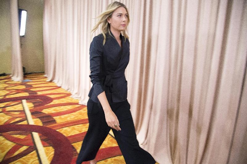 Maria Sharapova said she tested positive for Meldonium, a substance she had been taking since 2006 but one that was added to the banned list this year (AFP Photo/Robyn Beck)