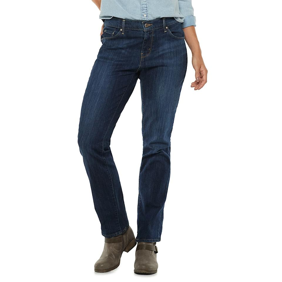 These mid-rise jeans are feature five pockets and secure zipper fly with a button closure. (Photo: Kohl's)