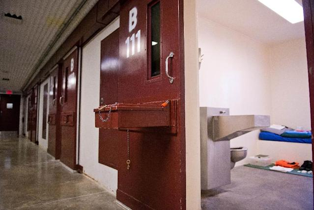 Guantanamo's Camp 5 which once housed non-compliant inmates and hunger strikers will be converted into a medical center with a psychiatric wing for detainees (AFP Photo/Mladen Antonov)
