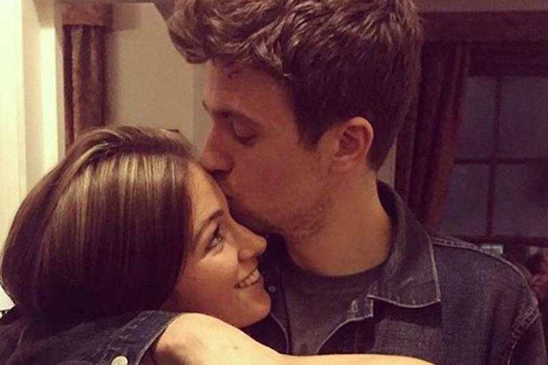 The couple became engaged in February: Greg James/Instagram